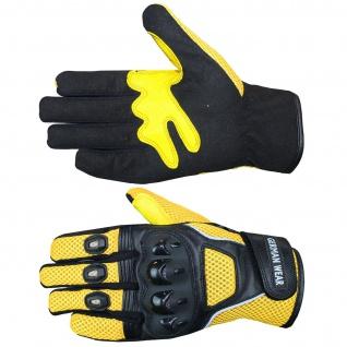 Motocross Motorradhandschuhe Biker Handschuhe Textilhandschuhe Gelb - Vorschau 4