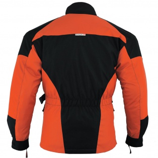 Motorradjacke Cordura Textilien Orange/Schwarz - Vorschau 4
