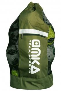 OMKA Fußball Rugby Handball Ballsack Reisetasche Carry Bag mit Schultergurt für 10 Bälle - Vorschau 5