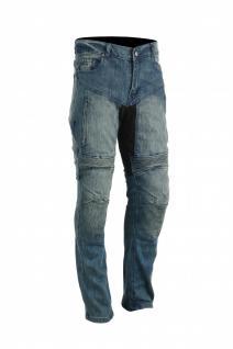 GermanWear, Herren Kevlar Motorradjeans Motorradhose Denim Jeans Hose mit Protektoren blau
