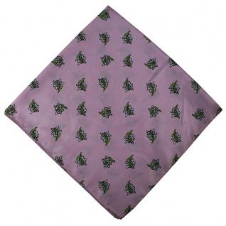 German Wear, Halstuch Trachtentuch mit Edelweissmuster nikituch 60x60cm rosa