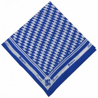 German Wear, Halstuch Trachtentuch bayrisches Bandana Muster 53x53 dunkelblau