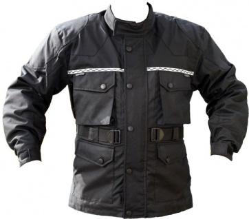 German Wear, Cordura textilien Jacke Motorradjacke Atmungsaktiv Kombigeeignet Schwarz