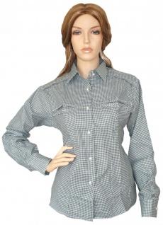 Trachtenbluse Bluse für damen Trachten Lederhose Trachtenmode Grün karo