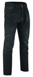 Denim Motorradjeans Motorradhose Futter aus Aramidfasern Jeans inkl. Protektoren Schwarz