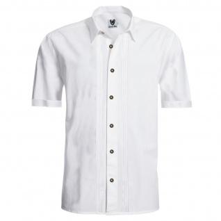 Trachtenhemd Businesshemd 2x5 Biesen Hemd Halbarm Baumwolle