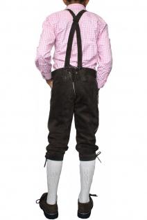 Jungen Kniebundhosen Leder Trachtenhose mit Hosenträgern - Vorschau 4