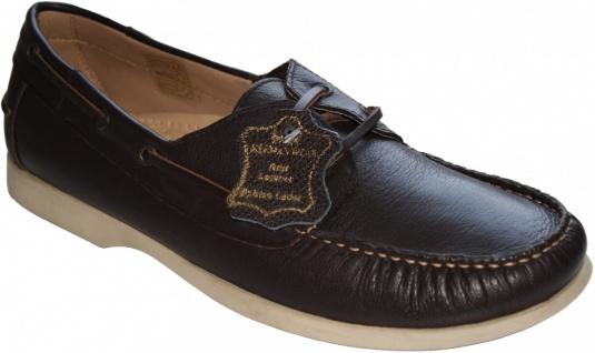 Bootsschuhe Segelschuhe Halbschuhe aus Rindsleder Schuhe dunkelbraun