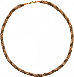 German Wear, Trachtenkordel Kordel Kette Anhänger Metall gold khaki Trachten