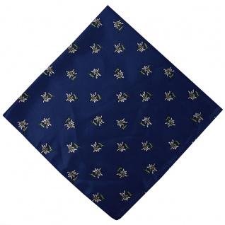 German Wear, Halstuch Trachtentuch mit Edelweissmuster nikituch 60x60cm dunkelblau