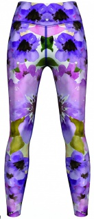 Watercolor Floral & Plants Leggings sehr dehnbar für Sport, Yoga, Gymnastik, Training, Tanzen & Freizeit