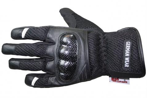 RadMasters, Motorradhandschuhe Biker Handschuhe Textilhandschuhe Schwarz - Vorschau 2