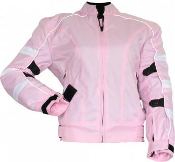 German Wear, Damen Motorradjacke Textilien Jacke Kombigeeignet Rosa