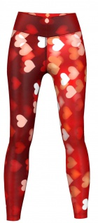 Hearts Leggings sehr dehnbar für Sport, Yoga, Gymnastik, Training & Fashion Rot