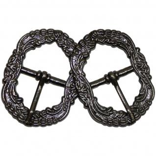 2x Trachten Schnalle für Hosenträgern Trachtenhosen aus Metall