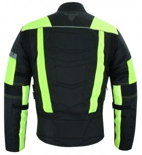 Motorradkombi Textilien motorradjacke + Motorradhose Schwarz, Grün & Orange inkl. alle Protektoren - Vorschau 5