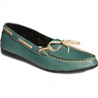 Bootsschuhe Mokassins lederschuhe Segelschuhe Schuhe grün/beige