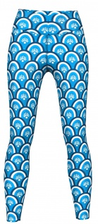Beauty Leggings sehr dehnbar für Sport, Yoga, Gymnastik, Training & Fashion Blau