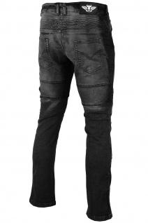 BULLDT Herren Kevlar Motorradjeans Motorradhose Denim Jeans Hose mit Protektoren Schwarz - Vorschau 3