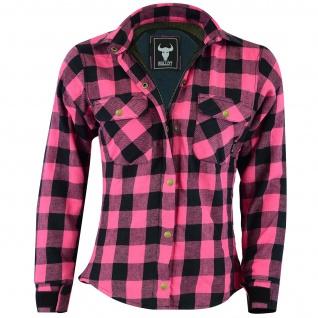 Damen Motorradhemd Holzfäller-Look Hemd mit Protektoren