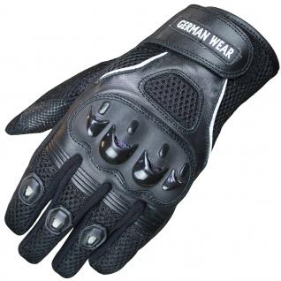 RadMasters, Motocross Motorradhandschuhe Biker Handschuhe Textilhandschuhe Schwarz