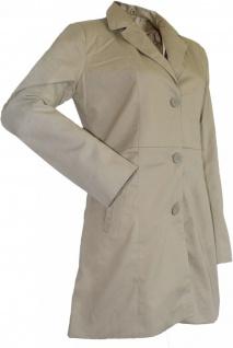 German Wear, Damen mantel Trenchcoat aus Baumwolle Beige - Vorschau 3