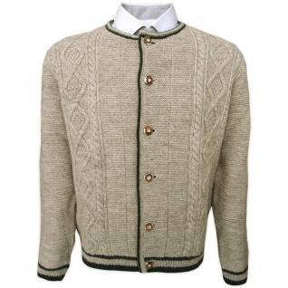 Trachten Wolljanker Strickjacke Zopfmuster aus Wolle
