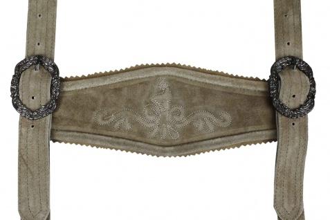 Trachten Lederhosen Klassische Hosenträger Trachtenmode H-Träger Beige