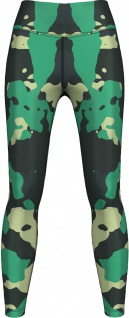 Light & Dark Green Camo Leggings dehnbar für Sport, Yoga, Gymnastik, Training, Tanzen & Freizeit grün