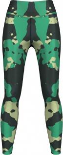 Light & Dark Green Camo Leggings sehr dehnbar für Sport, Gymnastik, Training, Tanzen & Freizeit grün