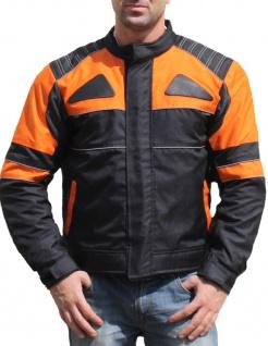 German Wear, Textilien Jacke Motorradjacke Kombigeeignet Schwarz/Orange