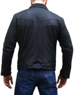 German Wear, Lederjacke Lamm Nappa echtleder Jacke Leder, modischer Knitterlook, schwarz - Vorschau 2