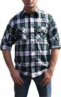 Jagdhemd jäger hemd für jagd GRÜN/karo - Vorschau 2