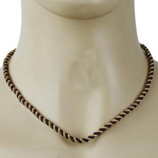 German Wear, Trachtenkordel Kordel Kette Anhänger Metall blau gold Trachten Tracht