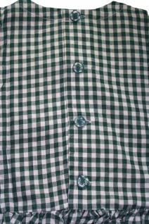 Mädchen Kinder Dirndl Mädchendirndl Kleid Grün/weiß kariert - Vorschau 2
