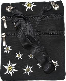 German Wear, Trachtentasche Dirndl Taschen Trachten Baumwolltasche Schwarz