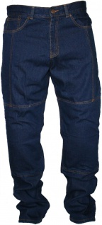Denim Motorradjeans Motorradhose Twill Jeans, inkl. Protektoren Blau