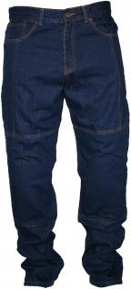 Denim Motorradjeans Motorradhose Twill Jeans, Protektoren Blau