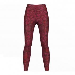 Pink Paisley Leggings sehr dehnbar Sport Yoga Gymnastik Training Tanzen Freizeit