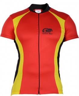 Trikot Radtrikot Fahrradtrikot Fahrrad Radler-Trikot Shirt Jersey Rot/Neongelb