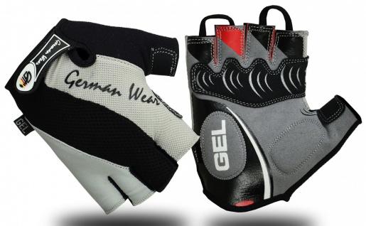 Fahrrad Radleder Handschuhe Fahrradhandschuhe Grau/Schwarz