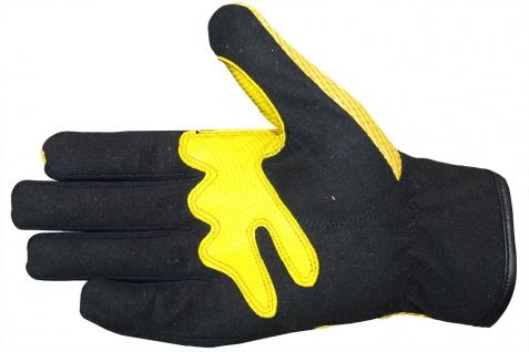 Motocross Motorradhandschuhe Biker Handschuhe Textilhandschuhe Gelb - Vorschau 3