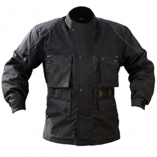 Cordura textilien Jacke Motorradjacke Atmungsaktiv Kombigeeignet Schwarz