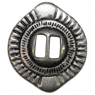 RadMasters 4 x Conchos für Biker Westen Kutte Western Leder Weste 3, 8 cm Ø aus Metall Silber