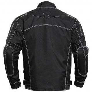 Motorradjacke textilien Kombi Jacke schwarz - Vorschau 2