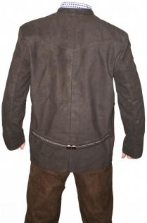 Trachtenjacke trachten lederjacke jacke Janker aus Ziegenleder braun - Vorschau 2