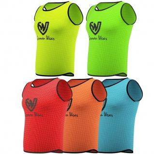 12x Fußball Leibchen Trainingsleibchen Markierungshemd Fußballleibchen für Kinder Jugend und Erwachsene