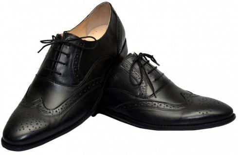 Business-schuhe Oxford Brogues Lederschuhe Schuhe Schwarz - Vorschau 3