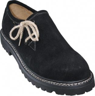 Trachtenschuhe Haferlschuhe echtem Leder Oktoberfest Schuhe juteschnüre Schwarz