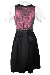 1-teiliges Midi-Dirndl Landhaus Kleid Dirndel ohne Bluse schwarz/weinrot - Vorschau 4